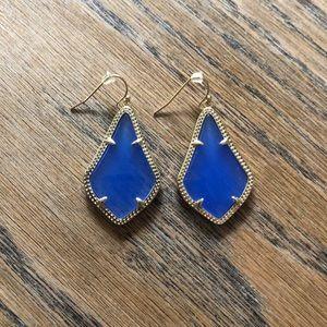 Kendra Scott Alex earrings in periwinkle